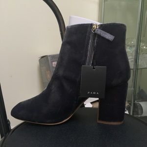 Zara Velvet Booties